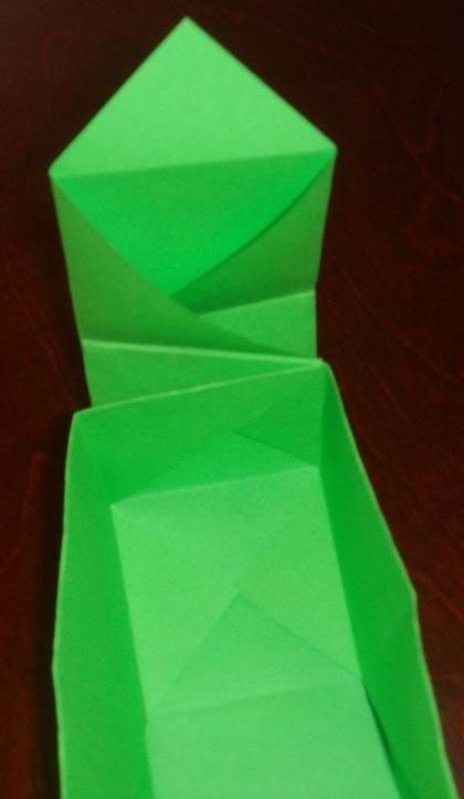 纸折正方体步骤图片
