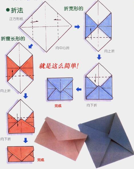 信封折法 信纸折法 5